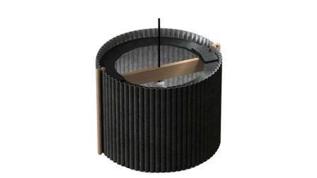 Zylindrischer Boden Geschnitzt Dekoration Umweltschutz Polyester-Faser Lampenschirm