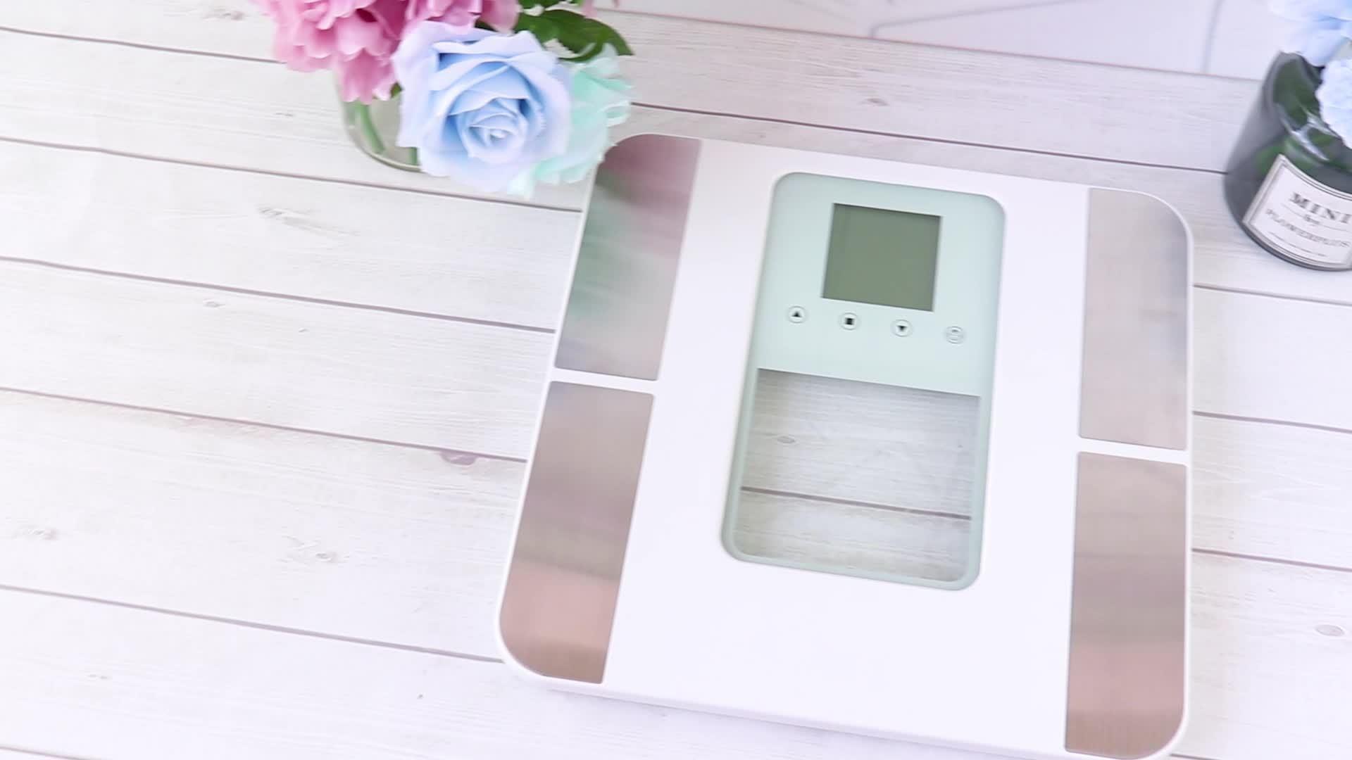 Groot LCD-scherm elektronische body fat analyzer Scale Digital Bathroom Weegschaal voor het lichaam
