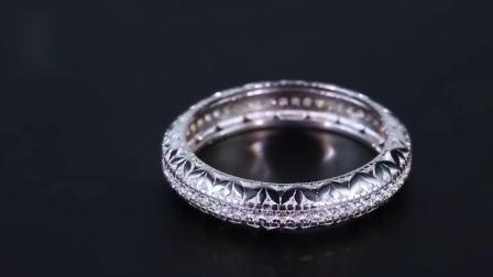 925 스털링 실버 링 CZ 다이아몬드 웨딩 밴드 이터니티 링