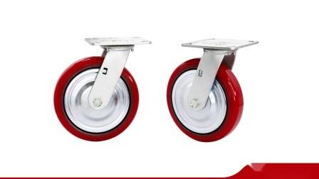 6-дюймовый промышленных для тяжелого режима работы PU чугунные колеса самоустанавливающегося колеса