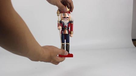 Decoração Vintage pintado à mão soldado de brinquedos de madeira Nutcracker personalizado para Decoração de Natal