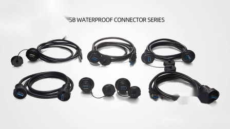Connettore maschio e femmina USB 2.0 per cavo IP67
