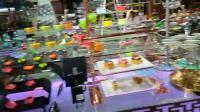 Buffet de casamento alimentadores e representa a combinação do horizonte decoração Prateleiras Racks Buffet Catering sobremesa Cupcake beleza Suporte de ecrã LED colorido Preto Suporte de bolo