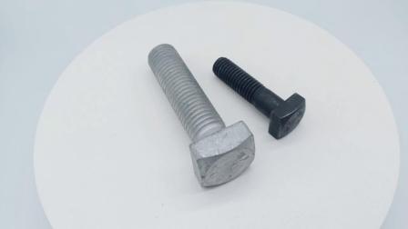 HDG 軟鋼 3/8 角ボルトおよびナット