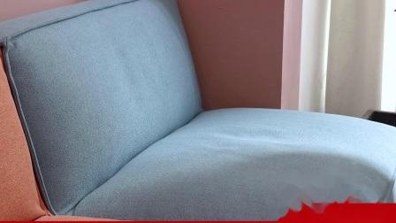 Divano in tessuto Art stile nordico legno massiccio combinazione di piccole unità Moderno e lussuoso soggiorno con divano da ufficio