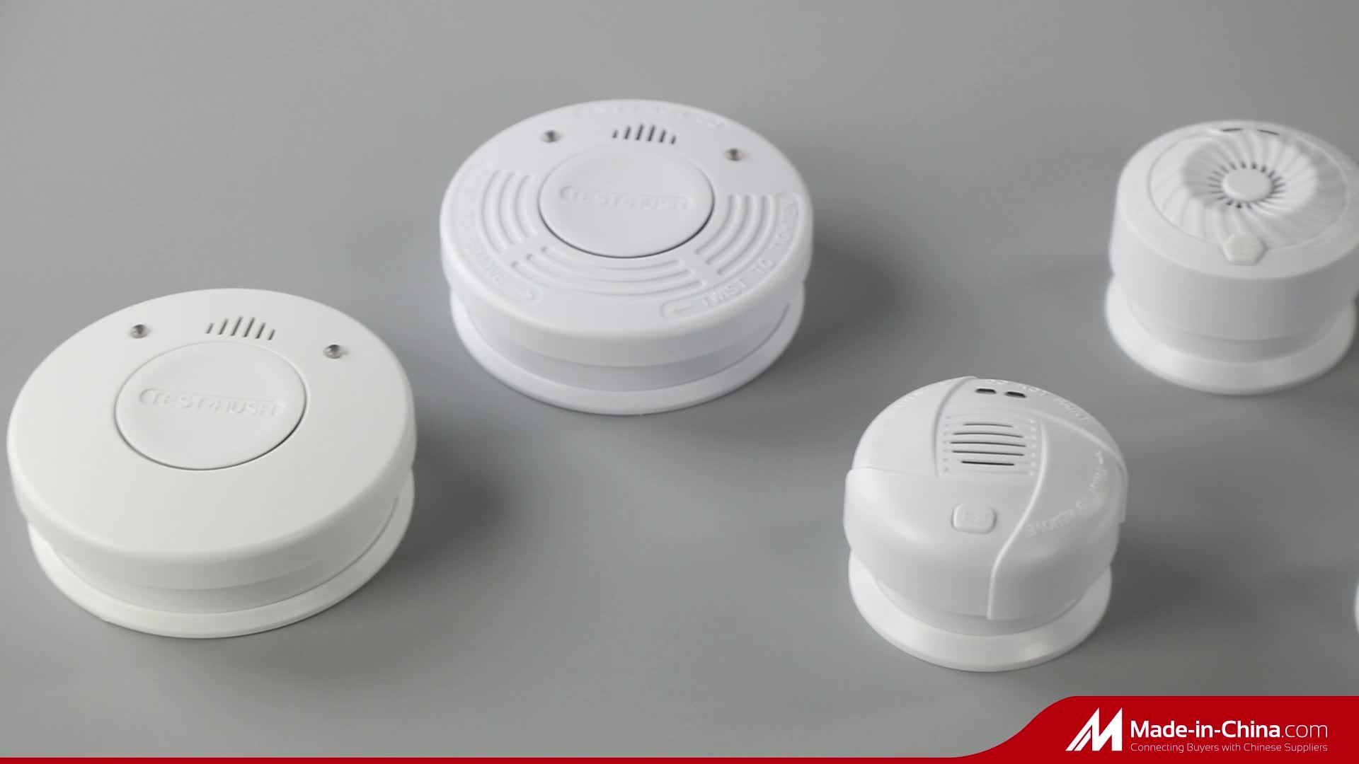 Беспроводная домашняя система пожарной сигнализации 433.92Interlinkable дыма с Мгц Lm-101LC