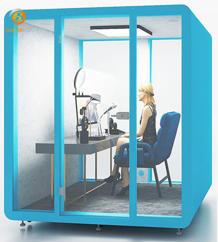 Kleine geräuschlose Hütte für Haustiere für Büro und Einkaufszentrum