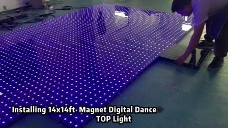 ステージ機器照明付き LED ピクセル RGB 可視化使用済みダンスフロア 販売のため