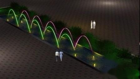 Laminare Jets und Jump Jet Garden Wasserbrunnen