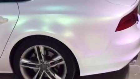 Ondis Branco acetinado mágica de adesivos para veículos automóveis de metal fosco adesivo