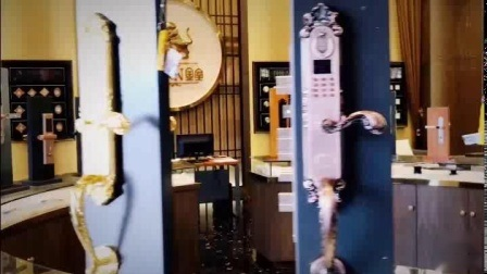 Hotel fechadura da porta de impressão digital de latão com senha e cartão IC