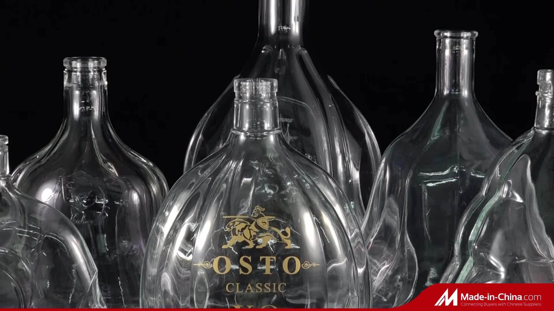 Amazon Hot sale Luxury motif Design bouteille de vin en verre et Tasses