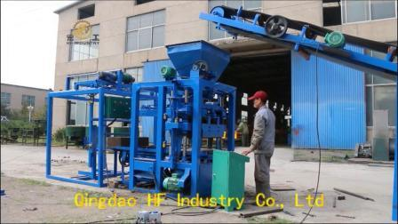 Qt4-26 Maker petit investissement machine à fabriquer des blocs de béton de ciment manuel de machine à briques au Ghana