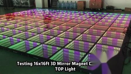 Disco Miroir Infini LED DMX sans fil 3D de plancher de danse