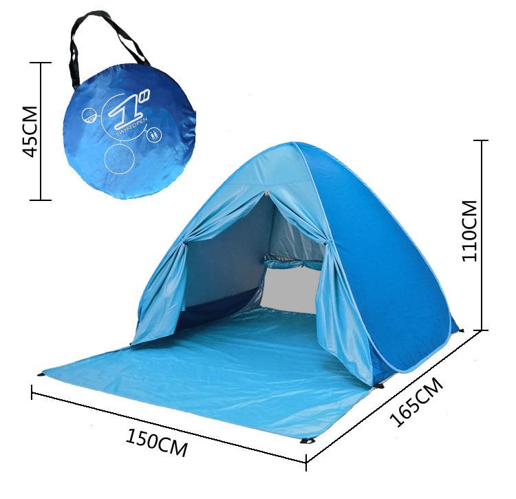 Pop up de la famille de la plage de plein air tente de camping