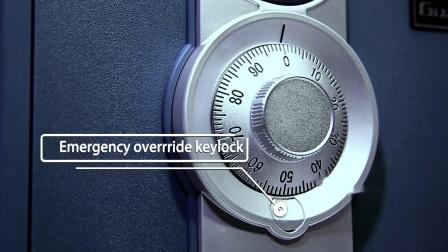 UL 1 Horas Caja de seguridad ignífuga resistente al agua con una combinación de bloqueo de marcado para la oficina en casa segura, 0.94 Cuft/25L (Guarda 2087C)