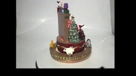 Cor do LED Musical Polyresin Alteráveis Santa Noel Natal Decoração de mesa