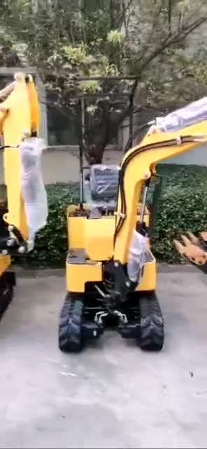 Mini Excavadoras de cadenas hidráulicas 1t con certificación CE Micro Digger Machine Para la venta