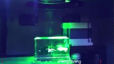 2D/3D-фотографии станок для лазерной гравировки внутри стекла кристально чистый звук