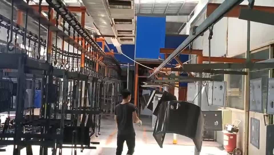 Papelão ondulado em revestimento de esmalte de pulverização úmida eletrostática equipamentos para aquecimento eléctrico