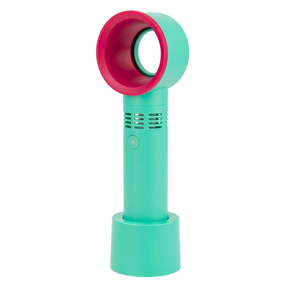 ポータブルハンドヘルド無換気ファン屋外 USB 充電式ミニリーフなし 冷却ファンデスクトップブランクレスファン
