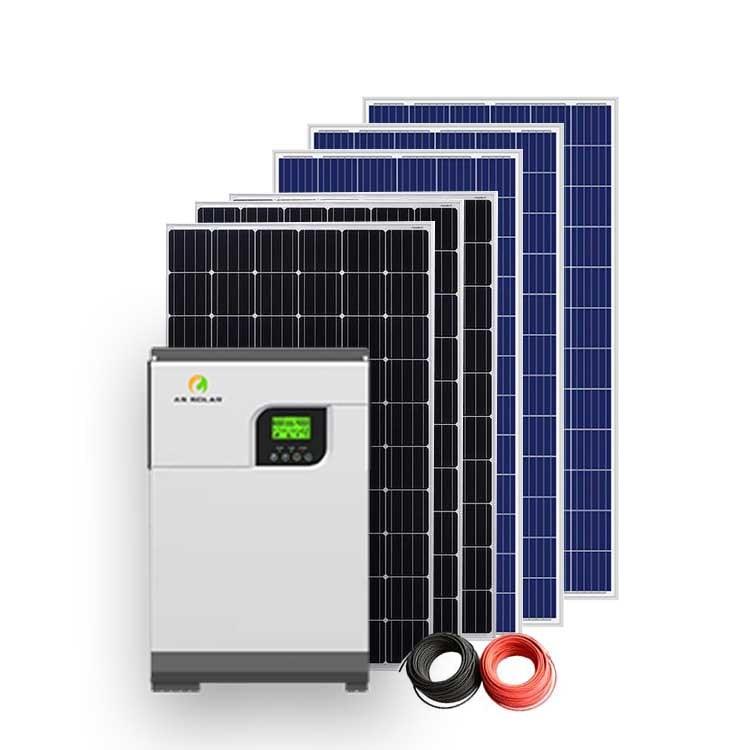 Sistema solare 3kw/5kw/7kw/10kW/15kw sistema solare per uso domestico