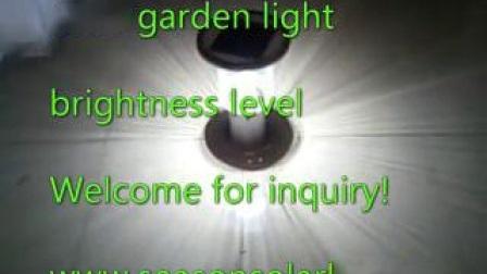 Luminária de LED de alta potência 5W Gerador Solar Iluminação exterior de luz com a bateria incorporada
