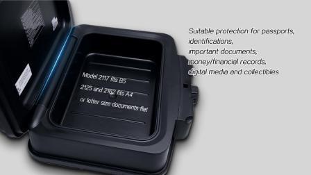 Cheapoffice de seguridad, Tamaño A4 Documento agua Caja de seguridad ignífugo 0,62 cuft