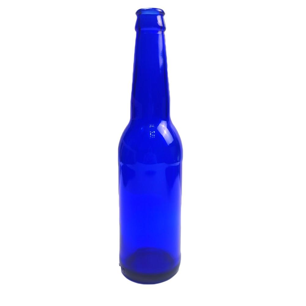 Hochwertige 330ml Glasflasche Customized leer dunkelblaues Bier Flasche[Neu]