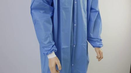 外科コートの使い捨て可能な実験室のコート