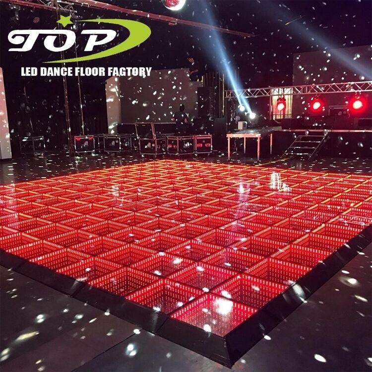 低価格の高 3D グロスミラーフラッシュ LED ホワイトダンスフロア 結婚披露宴のためのパネルタイル