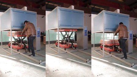 高温エレベータ底積込みラボ用マッフル炉