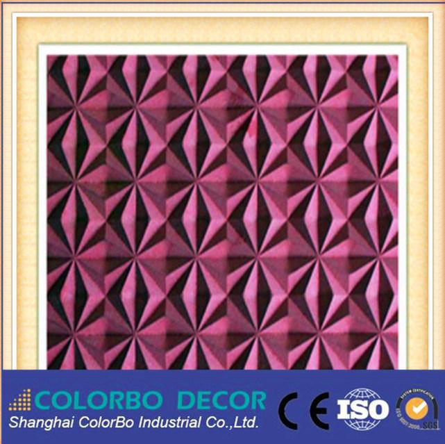 Wanddekoration Akustikmaterial Polyester Faser Wandpaneel 3D