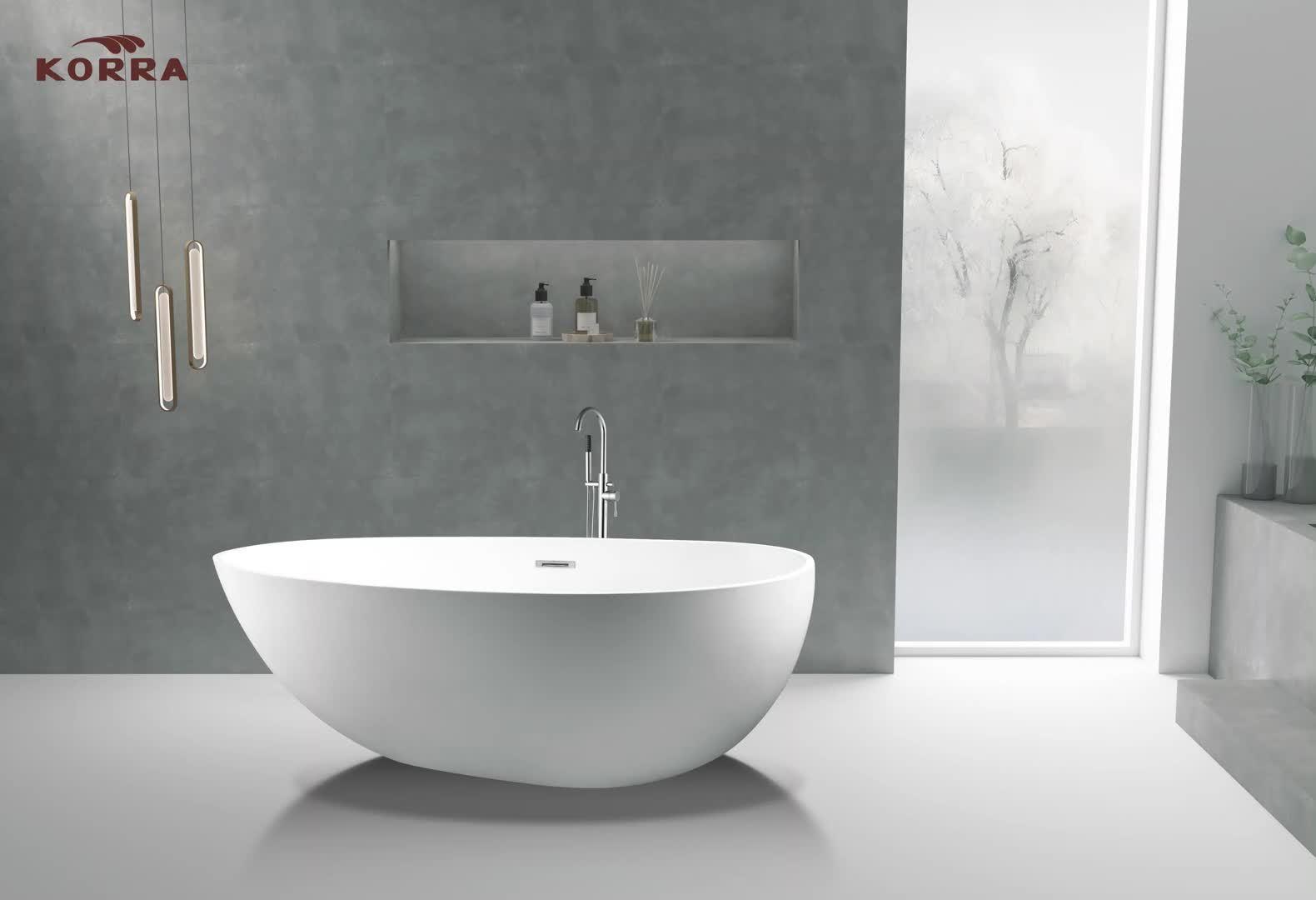 Promo Cupc отдельно стоящая ванна душевой акриловый ванной белый / Черный K1577/K1577b