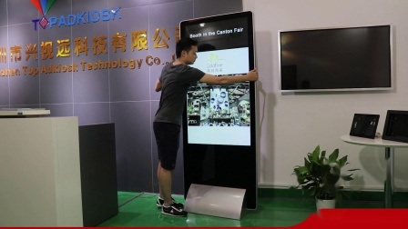 Пользуйтесь функцией настройки качества тонкий 4K 49-дюймовый монитор с Android Напольные Android ЖК-дисплей рекламы экраны монитора Media Player Digital Signage