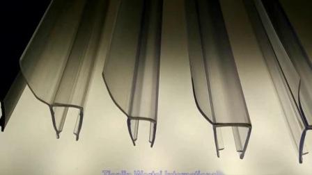 Pe Doorzichtige Pvc Kunststof Magnetische Rubberen Afdichtstrip Voor Schuif- Of Badkamerdouche Glazen Deur