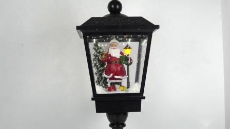 Post van de Lamp van het Tafelblad van Kerstmis van grote van de Grootte van Kerstmis van de Kerstman grafiet van de Scène De Muzikale met Dalende Sneeuw