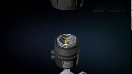 Pneumatisches Winkelventil aus Edelstahl für heiße Verkäufe