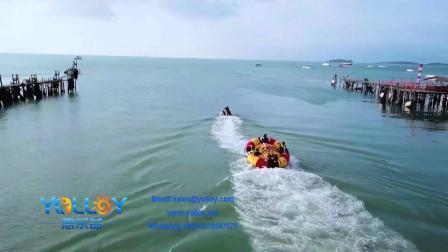 水上での水の膨らみ、魚管バナナボートでの飛行が含まれています