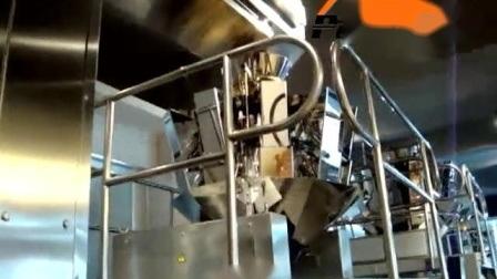Gefrorene Trockenobst Lebensmittel/Pasta/Nudeln/Käse/Tortilla/Kochbananen/Maccarroni/Reis/Pita/Kartoffelchips Zwickel Beutelfüllung Mit Wiegebeutel Verpackungsmaschine
