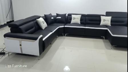 Maison moderne en cuir italien de meubles en coupe salle de séjour un canapé d'inclinaison électrique