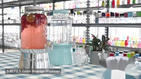 Venda por grosso de vidro de 5 L de dispensador de bebidas com a TAP