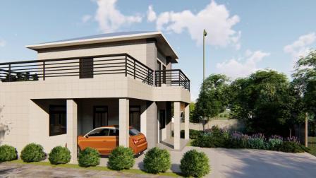 Maison modulaire légère en acier préfabriqués maison de jardin avec 2 chambre à coucher