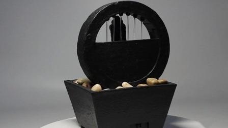Fontein van het Water van het Standbeeld van Boedha van de Hars Fengshui van het Decor van de Lijst van de Gift van de Decoratie van het huis de Binnen Mini