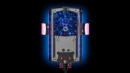 Soporte para teléfono inalámbrico de coche 10W de carga Cargador Qi para el iPhone para el Samsung 2020 nuevo producto al por mayor fábrica de R1 Cargador de coche