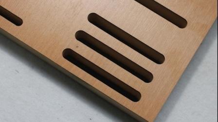 Feuerfestes Material Schlitz Holzholz Schallabsorbierende Platte