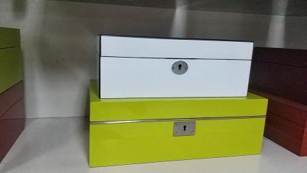 Madera Jewellry cuero PU/almacenamiento/Caja de regalo