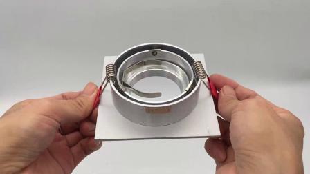 Tour d'aluminium Sauqre GU10 MR16 LED Downlight encastré d'inclinaison (LT2301)