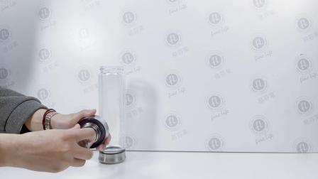Hotsale bere Bamboo bottiglia d'acqua di vetro con filtro in acciaio inox