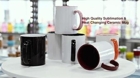 11oz 맞춤형 로고/패턴 순색열 변화 반응 커피 머그컵, 포첼랭 커피 머그컵/티 머그컵, 세라믹 머그컵